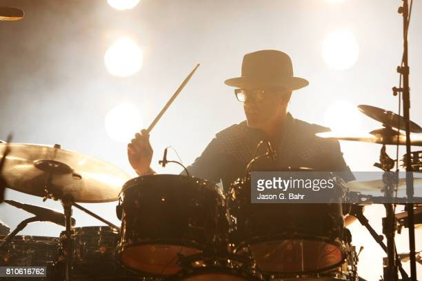Mike Marsh of The Avett Brothers performs at Red Rocks Amphitheatre on July 7 2017 in Morrison Colorado