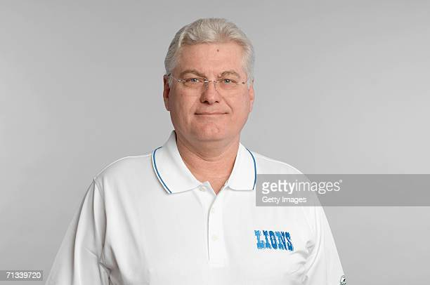 Mike Martz of the Detroit Lions poses for his 2006 NFL headshot at photo day in Detroit Michigan