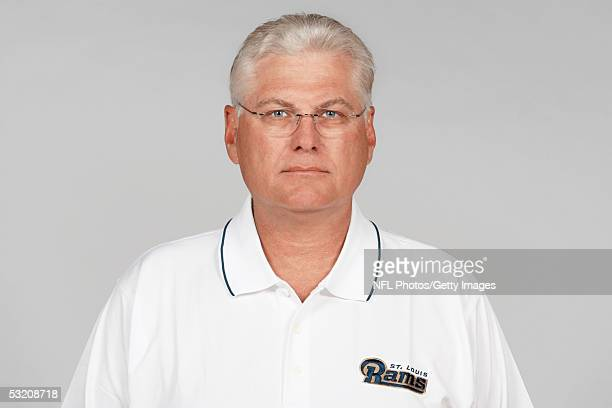 Mike Martz of the St Louis Rams poses for his 2005 NFL headshot at photo day in St Louis Missouri