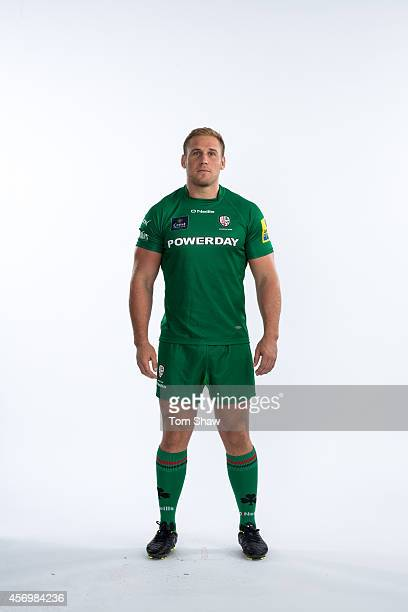 Mike Mayhew of London Irish poses for a picture during the BT PhotoShoot at Sunbury Training Ground on August 27 2014 in Sunbury England
