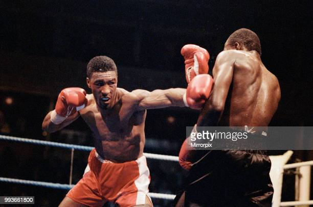 Mike McCallum vs Michael Watson for the WBA middleweight title Royal Albert Hall London England Watson was knocked out in the 11th round 14th April...