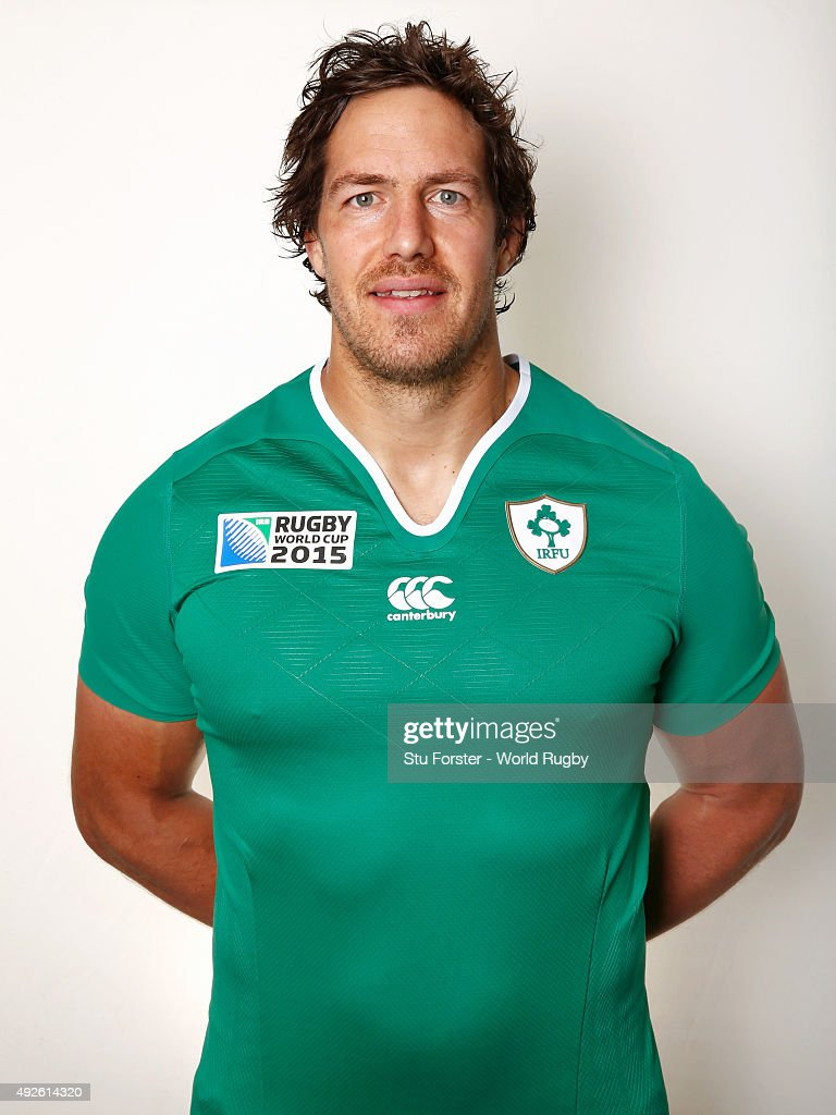 Mike McCarthy of Ireland poses for a portrait during the Ireland Rugby World Cup 2015 squad photo call on October 14, 2015 in Cardiff, Wales.