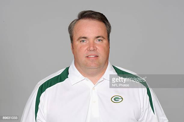 Mike McCarthy of the Green Bay Packers poses for his 2009 NFL headshot at photo day in Green Bay Wisconsin
