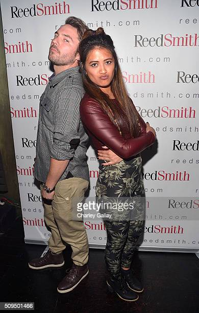 Mike McGarity and Teese Houston attend the Reed Smith GRAMMY Party at The Sayers Club on February 10 2016 in Hollywood California