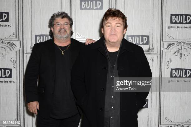 Mike McGuire and Marty Raybon from the band Shenandoah visit Build to discuss the album 'Reloaded' at Build Studio on March 13 2018 in New York City