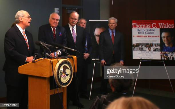 Mike McKay National Association of Former US Attorneys speaks at a press conference on the investigation into the murder of federal prosecutor Tom...