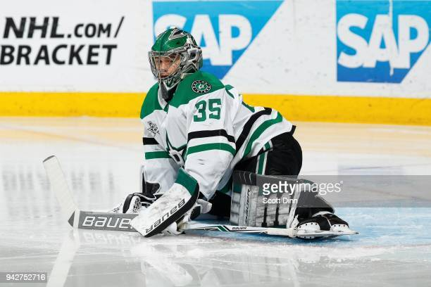 Mike McKenna of the Dallas Stars looks during a NHL game against the San Jose Sharks at SAP Center on April 3 2018 in San Jose California Mike McKenna