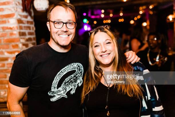 Mike McNamara and Lisa Lindo attend Hilary Barraford's Birthday Party held at Madame Siam on April 26 2019 in Los Angeles California