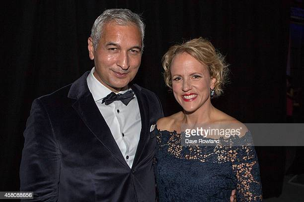 Mike McRoberts and Hilary Barry at the MediaWorks New Season Content Launch 2015 on October 30 2014 in Auckland New Zealand