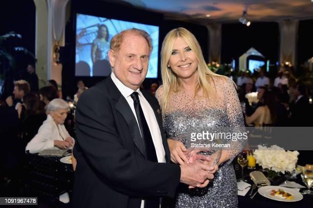 Mike Medavoy and Irena Medavoy attend Learning Lab Ventures 2019 Gala Presented by Farfetch at Beverly Hills Hotel on January 31 2019 in Beverly...