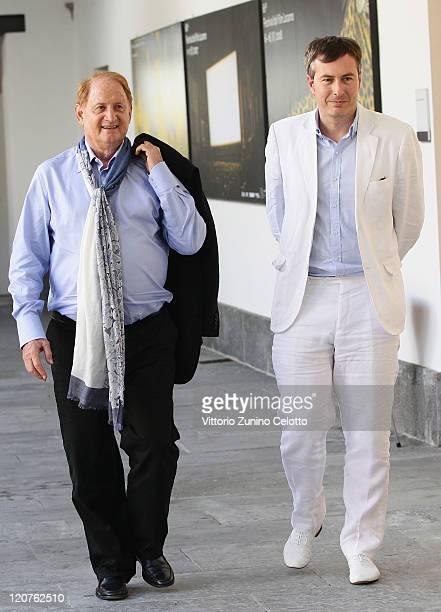 Mike Medavoy and Olivier Pere attend the 'Premio Raimondo Rezzonico' photocall during the 64th Festival del Film di Locarno on August 9 2011 in...
