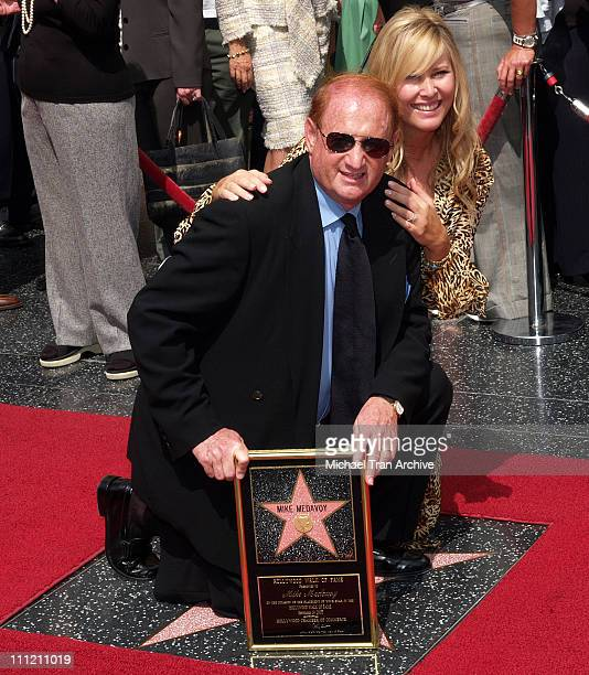 Mike Medavoy and wife Irena Medavoy during Mike Medavoy Honored with a Star on the Hollywood Walk of Fame at The Kodak Theatre in Hollywood...