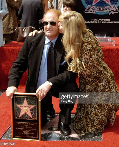 Mike Medavoy and wife Irena Medavoy during Producer Mike Medavoy Honored with Star on the Hollywood Walk of Fame for His Achievements in Film at...