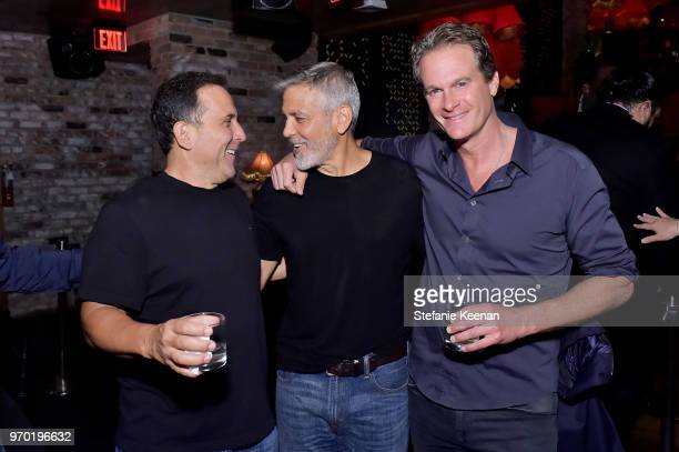 Mike Meldman George Clooney and Rande Gerber at the Casamigos House of Friends Dinner on June 8 2018 in Hollywood California