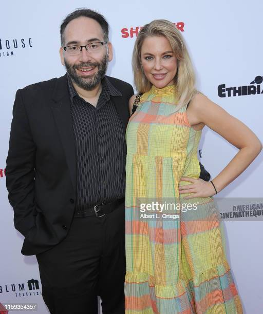 Mike Mendez and Camilla Jackson attend the 6th Annual Etheria Film Showcase held at American Cinematheque's Egyptian Theatre on June 29 2019 in...
