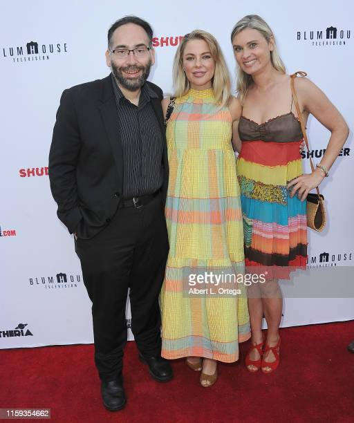 Mike Mendez Camilla Jackson and Kristina Klebe attend the 6th Annual Etheria Film Showcase held at American Cinematheque's Egyptian Theatre on June...