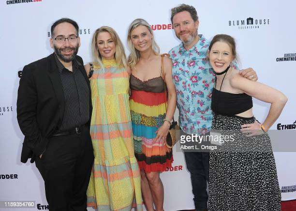 Mike Mendez Camilla Jackson Kristina Klebe Elric Kane and Rebekah McKendry attend the 6th Annual Etheria Film Showcase held at American...