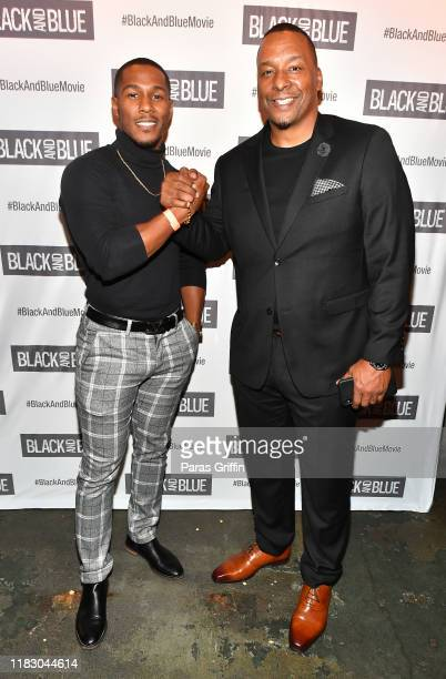 Mike Merrill and Deon Taylor attend Black and Blue Atlanta special screening after party at Sweet Auburn BBQ on October 23 2019 in Atlanta Georgia