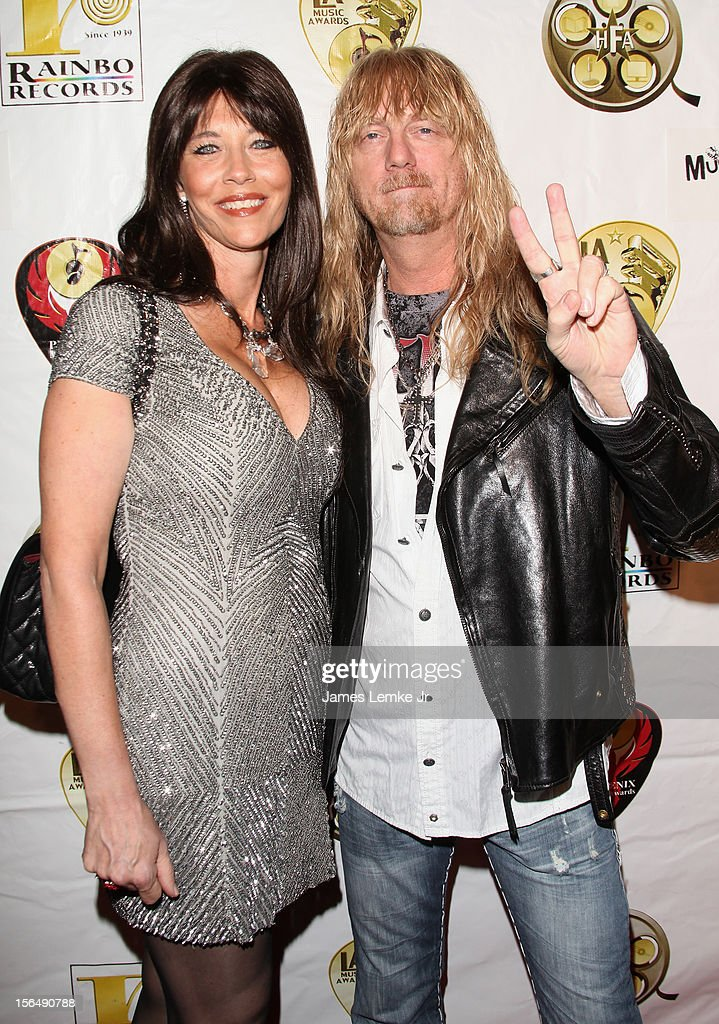 Mike Messey and guest attend the 22nd Annual LA Music Awards held at the Avalon on November 15, 2012 in Hollywood, California.