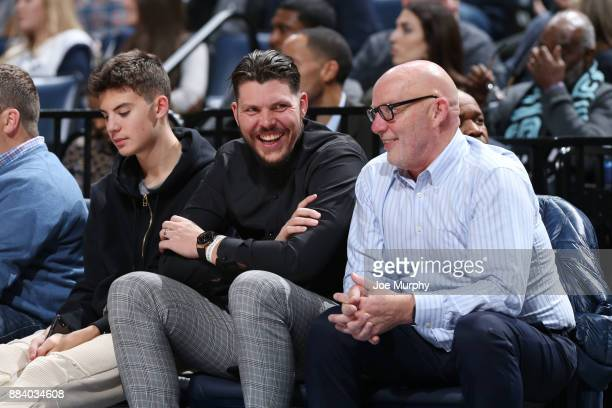 Mike Miller formerly of the Memphis Grizzlies attends the game against the San Antonio Spurs on December 1 2017 at FedExForum in Memphis Tennessee...
