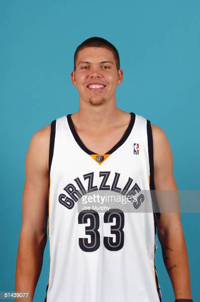 Mike Miller of the Memphis Grizzlies poses for a portrait during NBA Media Day on October 4 2004 in Memphis Tennessee NOTE TO USER User expressly...