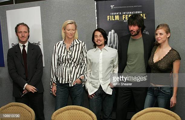 Mike Mills director Tilda Swinton Lou Pucci Keanu Reeves and Kelli Garner