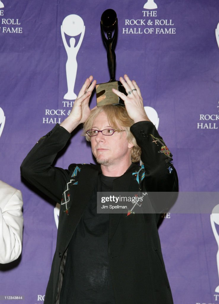 Mike Mills of R.E.M., inductee during 22nd Annual Rock and Roll Hall of Fame Induction Ceremony - Press Room at Waldorf Astoria in New York City, New York, United States.