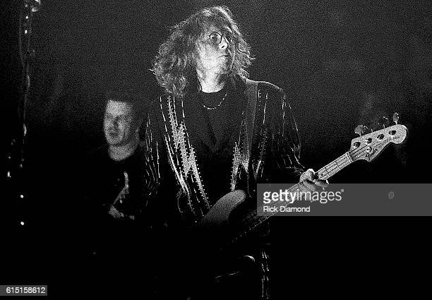 Mike Mills of REM performs at The Omni Coliseum in Atlanta Ga on November 11 1995