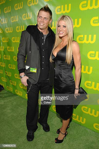 Mike Mizanin and Ashley Massaro during The CW Winter 2007 TCA Press Tour Party Green Carpet and Inside at Ritz Carlton in Pasadena California United...