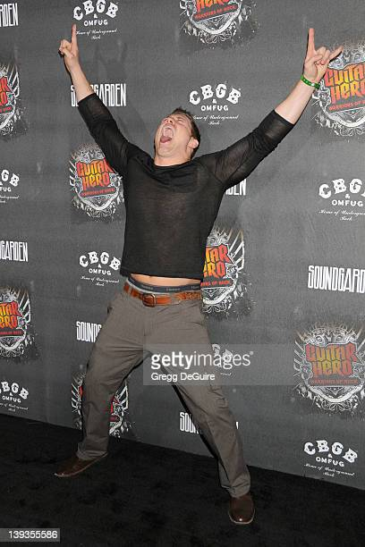 Mike Mizanin arrives at the Launch of Guitar Hero Warriors of Rock at Paramount Studios on September 27 2010 in Los Angeles CA
