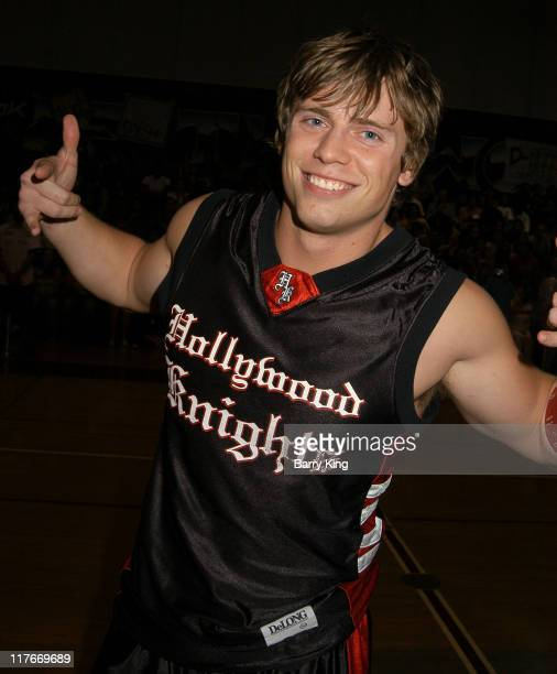 Mike Mizanin during Hollywood Knights Basketball Game Van Nuys at Van Nuys High School in Van Nuys California United States