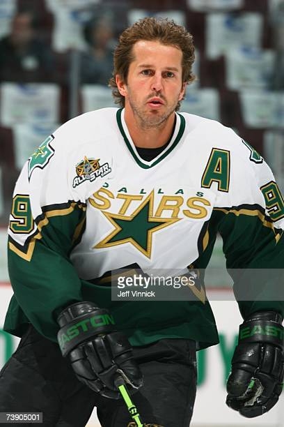Mike Modano of the Dallas Stars skates against the Vancouver Canucks in game one of the Western Conference QuarterFinals during the NHL Stanley Cup...