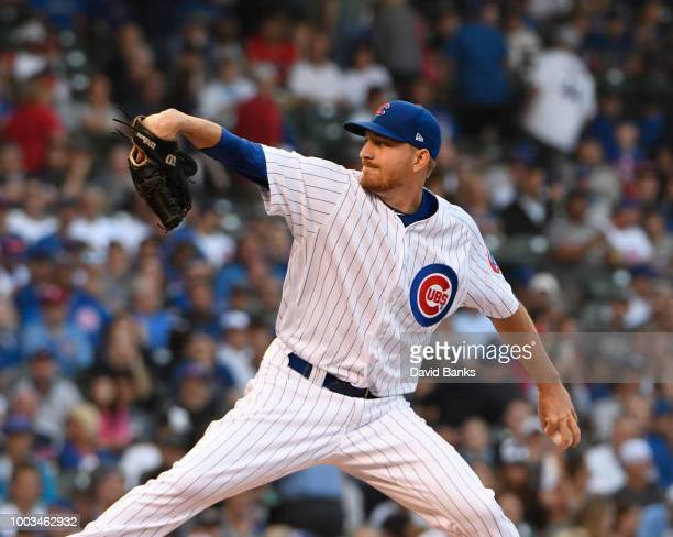 Bud Norris of the St Louis Cardinals celebrates getting the final out against the Chicago Cubs during the ninth inning during game two of a...
