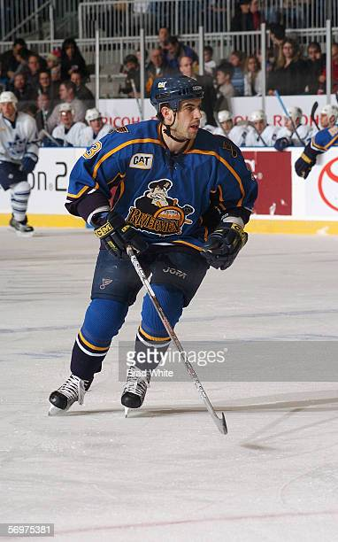 Mike Mottau of the Peoria Rivermen skates against the Toronto Marlies at Ricoh Coliseum on February 3 2006 in Toronto Ontario Canada The Rivermen won...