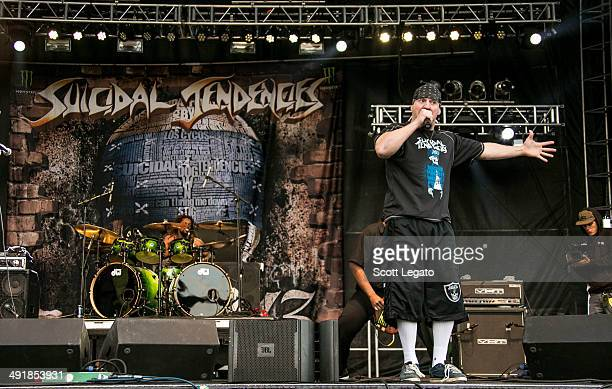 Mike Muir of Suicidal Tendencies performs during 2014 Rock On The Range at Columbus Crew Stadium on May 17 2014 in Columbus Ohio