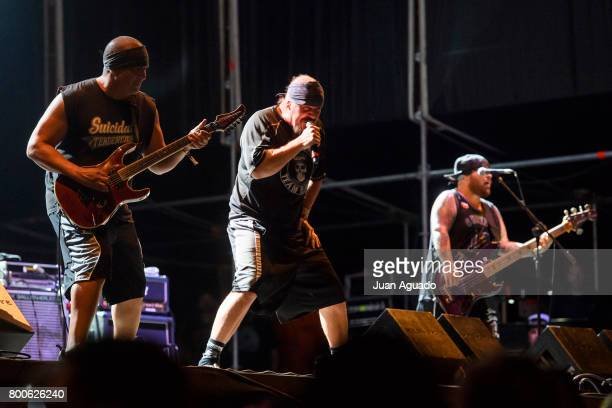 Mike Muir of Suicidal Tendencies performs on stage at the Download Festival on June 24 2017 in Madrid Spain