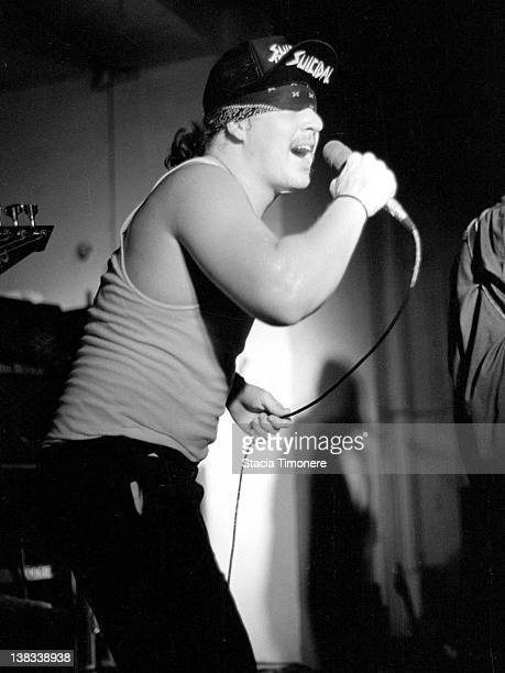 Mike Muir performing with American hardcore punk band Suicidal Tendencies at Medusas in Chicago Illinois USA 3rd May 1987