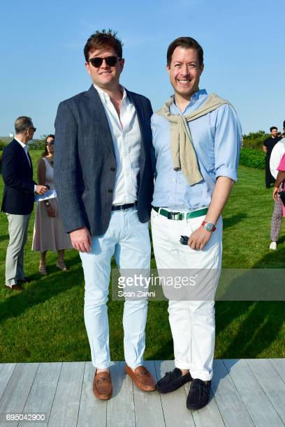 Mike Murphy and David Howard attend The 17th Annual Midsummer Night Drinks Benefiting God's Love We Deliver at Private Residence on June 10 2017 in...