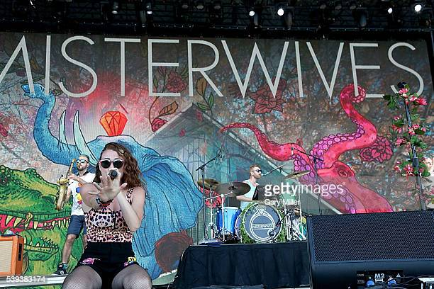 Mike Murphy Mandy Lee and Etienne Bowler of Misterwives perform during the second day of the Bonnaroo Music and Arts Festival on June 10 2016 in...