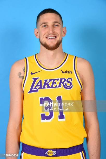 Mike Muscala of the Los Angeles Lakers poses for a headshot at STAPLES Center on February 21 2019 in Los Angeles California NOTE TO USER User...