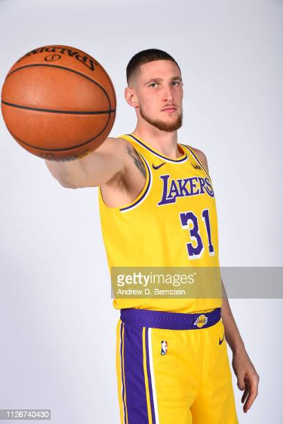 Mike Muscala of the Los Angeles Lakers poses for a portrait at STAPLES Center on February 21 2019 in Los Angeles California NOTE TO USER User...