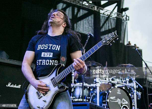 Mike Mushok of STAIND performs during 2014 Rock On The Range at Columbus Crew Stadium on May 16 2014 in Columbus Ohio