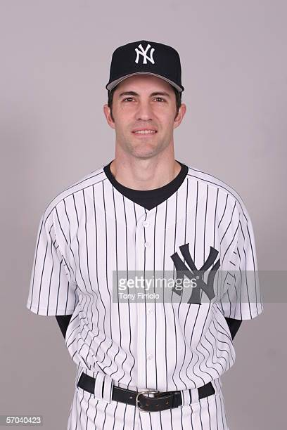 Mike Mussina of the New York Yankees during photo day at Legends Field on February 24 2006 in Tampa Florida
