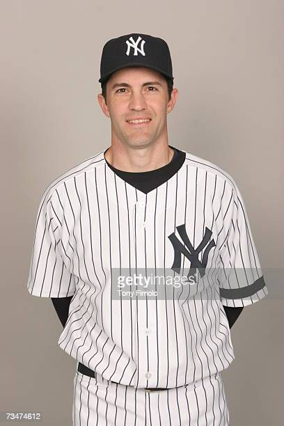 Mike Mussina of the New York Yankees poses during photo day at Legends Field on February 23 2007 in Tampa Florida