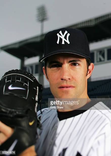 Mike Mussina of the New York Yankees poses for a portrait during Yankees Photo Day at Legends Field on February 25 2005 in Tampa Florida