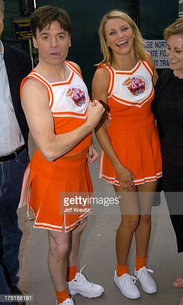 Mike Myers and Cameron Diaz during Nickelodeon's 17th Annual Kids' Choice Awards Backstage at Pauley Pavillion in Westwood California United States