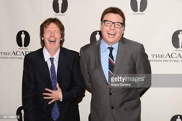 Mike Myers and Dana Carvey attend the Academy of Motion Picture Arts and Sciences hosts a Wayne's World reunion at AMPAS Samuel Goldwyn Theater on...