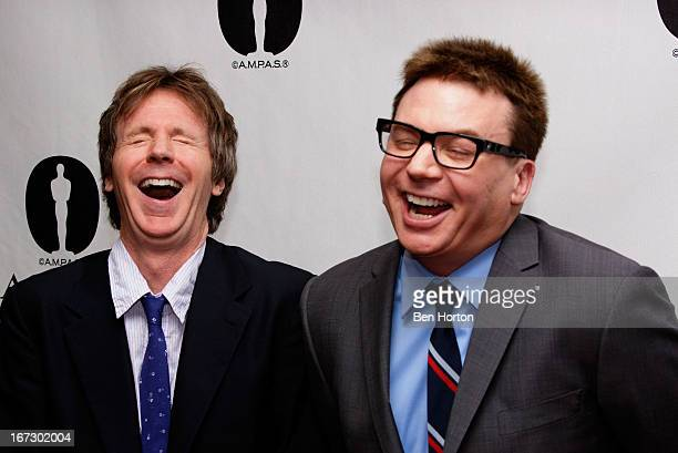 Mike Myers and Dana Carvey attend the Academy Of Motion Picture Arts And Sciences Hosts A 'Wayne's World' Reunion at AMPAS Samuel Goldwyn Theater on...