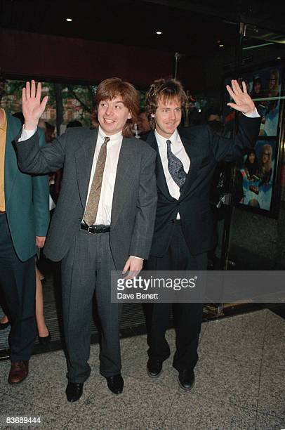 Mike Myers and Dana Carvey stars of the movie at the London premiere of 'Wayne's World' 21st May 1992