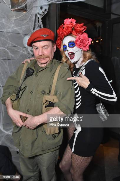 Mike Myers and Heather Graham attend Heidi Klum's 18th Annual Halloween Party presented by Party City and SVEDKA Vodka at Magic Hour Rooftop Bar...